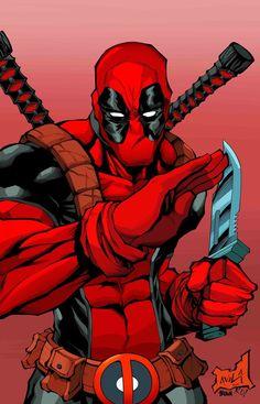 #Deadpool #Fan #Art. (Deadpool) By: Timothy-Brown. ÅWESOMENESS!!!™ ÅÅÅ+