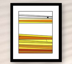 Instant download printable art minimalist abstract landscape Fields of gold