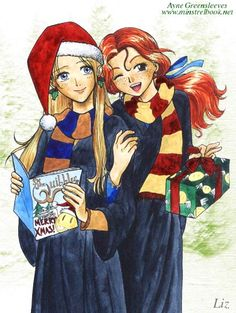 Christmas Luna and Ginny by Alkanet.deviantart.com on @deviantART