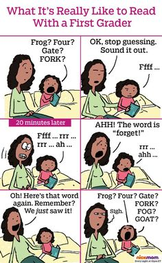 Here's What Reading with a First Grader Feels Like | More LOLs & Funny Stuff for Moms | NickMom