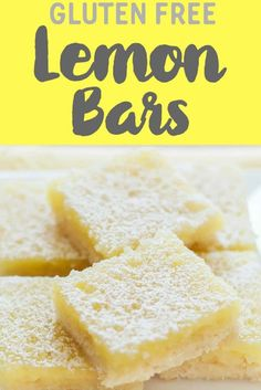 A delicious Dairy Free and Gluten Free lemon bars recipe with the best shortbread base. They're the tastiest gluten free dessert bars you'll ever try! gluten free Lemon Squares