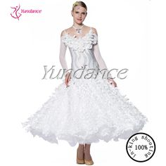 ballroom dance competition dresses for girls white performance dress 2016 B-12598