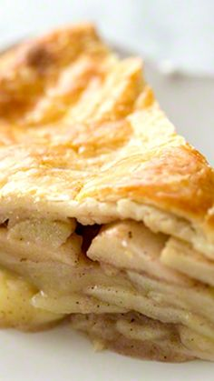 Best Apple Pie Ever ~ With a homemade NO-FAIL flaky, buttery pie crust. Loads of apples and a touch of brandy in the filling.
