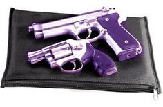 Purple griped handgun and revolver Purple Gun, Purple Love, All Things Purple, Shades Of Purple, Purple Stuff, Weapons Guns, Guns And Ammo, Pink Guns, Big Girl Toys