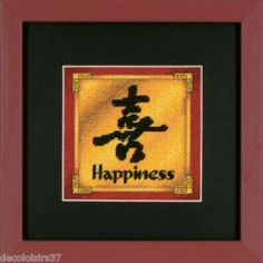 I checked out Kit Canevas Point de Croix Needlepoint Dimensions Asie Ideogramme Happiness on Lish, € 13,60
