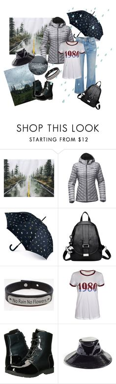 """Rainy Days"" by fashioncd7 ❤ liked on Polyvore featuring The North Face, Joules, Pink Box, Eric Javits and rainydayoutfit"