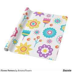 Shop Flower Pattern Wrapping Paper created by ArtisticFlowers. Different Flowers, Colorful Flowers, Flower Patterns, Flower Designs, Envelope Labels, Wrapping, Create Your Own, Birthday Gifts, Christmas Gifts