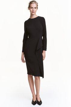 Draped dress - Black - Ladies | H&M 1