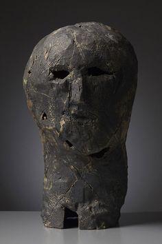 """Xavier Toubes. """"Cabeza Negra"""". 60 × 34 cm. Sculpture Head, Stone Sculpture, Abstract Sculpture, Abstract Art, Ceramic Sculpture Figurative, Small Sculptures, Contemporary Sculpture, Ancient Art, Dark Art"""