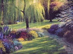 In the Flower Garden by Charles H. White
