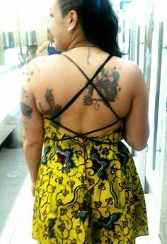 Vestido Artesanal- Tecido africano