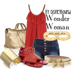 Wonder Woman - Cool outfit, without the shoes and then, an INVISIBLE JET!