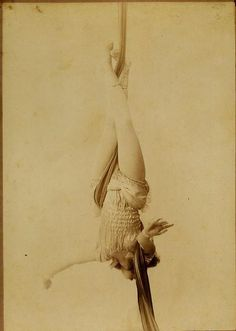 Unknown aerialist, circa 1900.