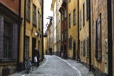 ストックホルムの路地裏の画像(写真)