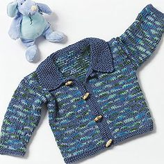 Free Pattern! Children's Knitted Sweater in Caron Simply Soft and Simply Soft Paints