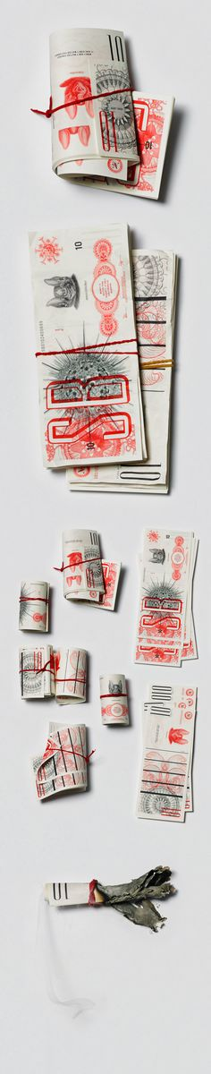 Self Promotion. 10 year anniversary party money! // Studio Beige Money by Studio Beige, via Behance