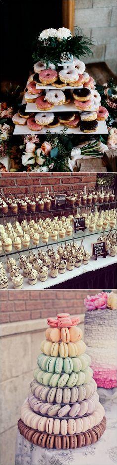 Creative wedding dessert ideas #wedding #weddingfood #weddingdessert #weddingideas