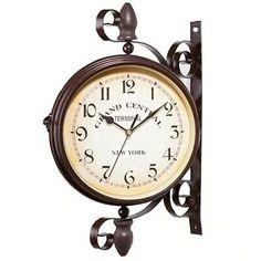 European Wall Retro Style Clock Watch Creative Round Silent Decorate Quartz Home | eBay