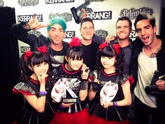 All Time Low @AllTimeLow & BABYMETAL @BABYMETAL_JAPAN at #relentlesskerrangawards @KerrangMagazine Awards! #London