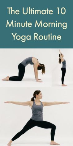 Need a little more energy to start your workday right? Try on this 10 minute yoga sequence for size to balance your body and focus your mind. #YoYoYoga-PosesandRoutines