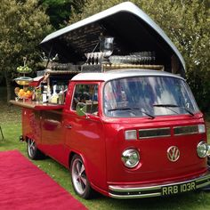 Dishfunctional Designs_ Awesome Repurposed and Revamped VW Volkswagen Van Food Trucks Volkswagen Transporter, Volkswagen Bus, Transporter T3, Mini Camper, Vw T1 Camper, Campers, Food Trucks, Kombi Food Truck, Party Bus
