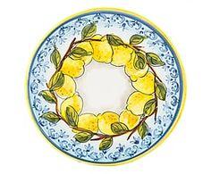 Piatto in terracotta Limoni - D 28 cm
