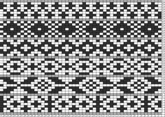 Tricksy Knitter Charts: 7 row motifs progressively longer repeat, the longest centered wrong