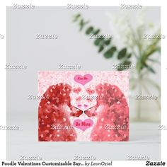 Shop Poodle Valentines Customizable Sayings Love Hearts Announcement Postcard created by LeonOziel. Dog Jewelry, Pet Accessories, Love Heart, Poodle, Colorful Backgrounds, Announcement, Hearts, Girly