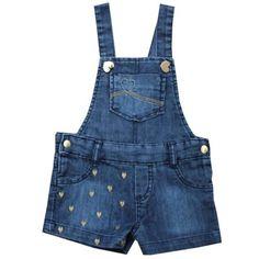 jardineira jeans Tam. 1 a 3 Jardineira Infantil Masculina c8f6e67425d