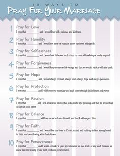 Didi @ Relief Society: 10 Ways to Pray for Your Marriage