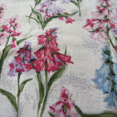 Harebells vintage cotton barkcloth from Folly&Glee