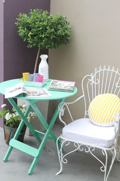 Garden Chairs, Garden Furniture, Outdoor Furniture Sets, Outdoor Tables, Outdoor Decor, Other Rooms, Table And Chairs, Garden Inspiration, Outdoor Living