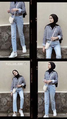 Modest Fashion Hijab, Modern Hijab Fashion, Street Hijab Fashion, Casual Hijab Outfit, Hijab Fashion Inspiration, Teen Fashion Outfits, Muslim Fashion, Casual Outfits, Hijab Jeans