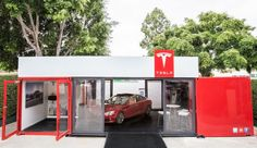 Tesla's mobile pop-up store is a secret weapon on a flatbed truck | Inhabitat - Sustainable Design Innovation, Eco Architecture, Green Building