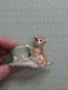 Antique Vintage Toothpick Holder Dog With Top Hat on Etsy, $10.00