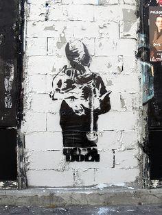 "Made by streetartist ""Dolk"" - #streetart #aryz - Click for more streetart"