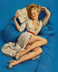 of the Most Seductive Gil Elvgren Pin Up Girl Pictures of the Pin Up Vintage, Retro Pin Up, 50s Pin Up, Photo Vintage, Vintage Art, Vintage Glam, Vintage Lingerie, Gil Elvgren, Pin Up Illustration