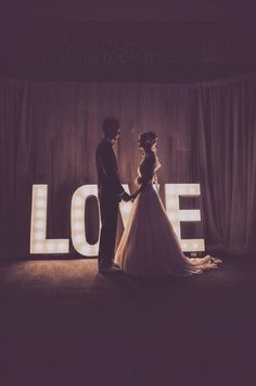 LOVE marquee sign at the reception sets the perfect ambiance
