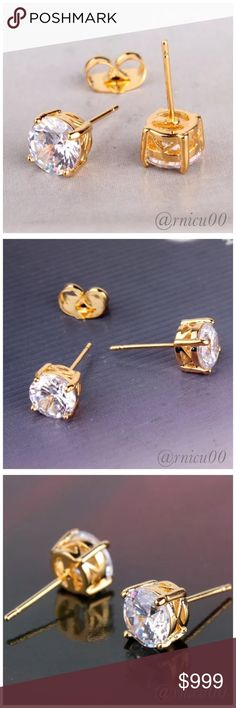 🆕24K Yellow Gold Swarovski Crystal Stud Earrings Stunning 24K Yellow Gold Swarovski Crystal Round Stud Earrings! Simple yet Sophisticated Stylish Earrings- a perfect Accessory!  ✨Will be shipped Securely in Jewelry Gift Box, Ready for Gifting! ✨Please see full Description in picture #4!👌  *NO TRADES* *Reasonable Offers thru option⤵️ *Sales are Final, Bundle for Discounts! Boutique Jewelry Earrings