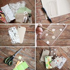 DIY Phone Case Art diy idea crafts diy ideas diy crafts easy diy phone case mobile case phone art cool crafts crafty craft ideas