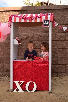 Skylta Children's Market Stand repurposed as kissing booth for Valentine's Day,  $14.99 at Ikea