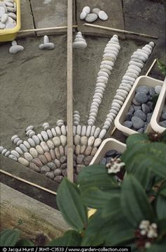 http://www.finegardening.com/design/articles/create-pebble-mosaic.aspx?id=82100  Pebble Mosaic Art Process of making a detailed stone pebble walkway path garden