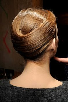Spring/Summer 2011 Giorgio Armani Privé show. Hair by Oribe educator Ada