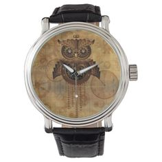 #watches #wristwatches Steampunk Owl Vintage Style Watches - click/tap to personalize