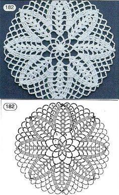 Patterns and motifs: Crocheted motif no.A rhombus crochet and other ideas for inspiration. Crochet Circles, Crochet Motifs, Crochet Diagram, Crochet Chart, Crochet Squares, Crochet Doilies, Crochet Stitches, Crochet Patterns, Doily Rug