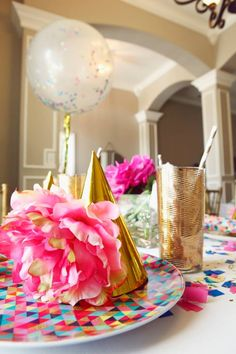 GLITZ AND GLAMOUR PARTY/glitz-glamour-glitter-geometrical-spa-party-party-hats