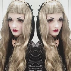 "New wig by @_dream_holic_ Use code: ""LOVELACE"" to have 8% off on their shop.  #wig #dremholicwig #goth #gothic #gothgoth #victorian #victoriangoth #vampire #ucg #upperclassgoth"