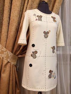 Платье с мышами-портняжками