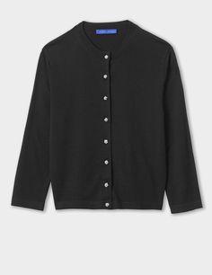 silk-cashmere-dress-cardigan-Black