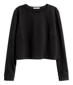 Kurzes Shirt | Schwarz | Damen | H&M AT